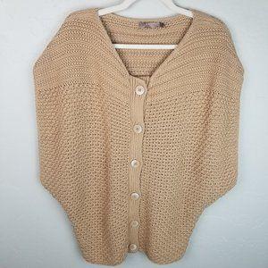 Prana Women's L Tan Organic Cotton Knit Sweater Bu